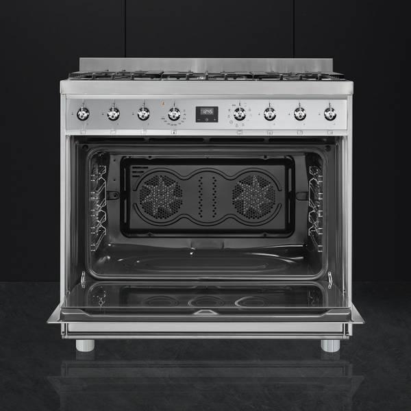 c9gmx9 smeg cuisini re avec taque de cuisson au gaz elektro loeters. Black Bedroom Furniture Sets. Home Design Ideas