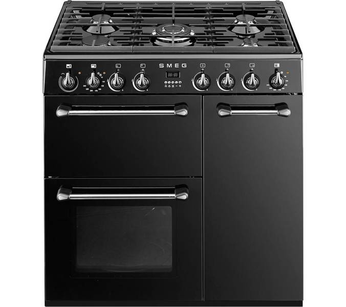 bm93bl el smeg cuisini re avec taque de cuisson au gaz elektro loeters. Black Bedroom Furniture Sets. Home Design Ideas