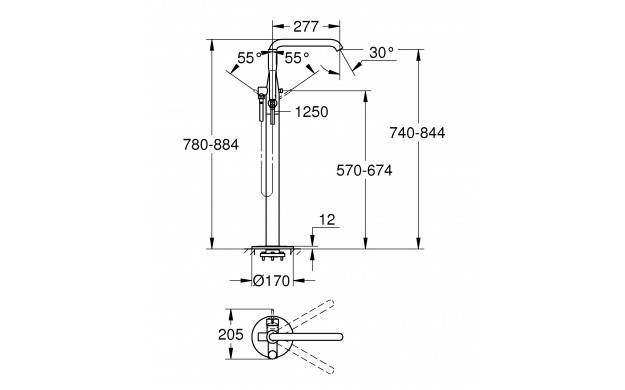 23491001 Grohe Robinet mono-commande - Elektro Loeters