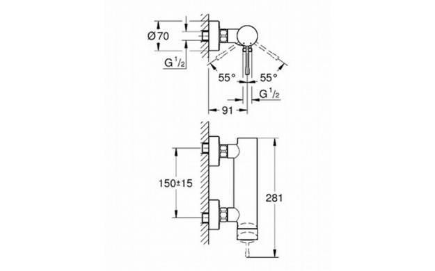 33636001 Grohe Robinet mono-commande - Elektro Loeters