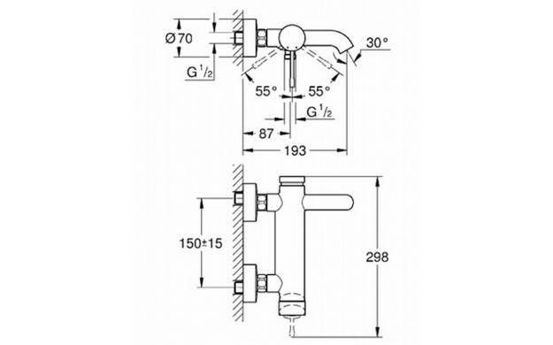 33624001 Grohe Robinet mono-commande - Elektro Loeters