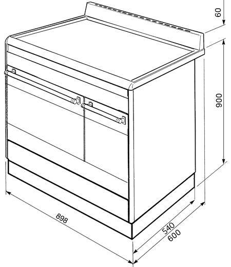 cg92px9 smeg cuisini re avec taque de cuisson au gaz. Black Bedroom Furniture Sets. Home Design Ideas