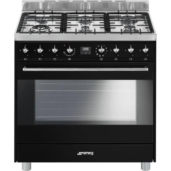 c9gmn9 smeg cuisini re avec taque de cuisson au gaz elektro loeters. Black Bedroom Furniture Sets. Home Design Ideas