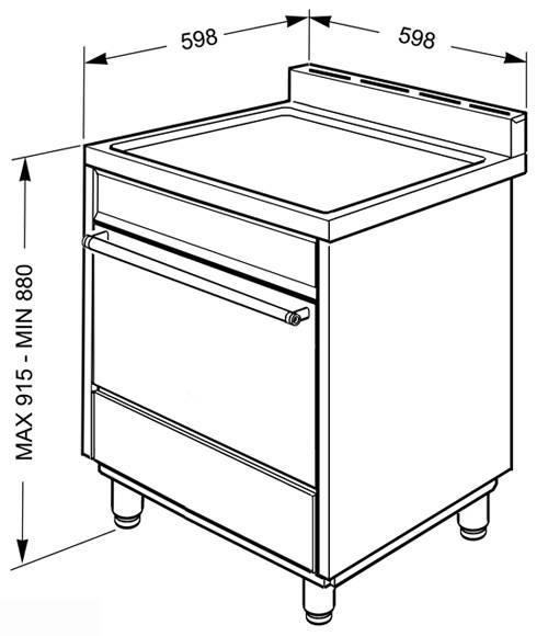 c6gmx8 smeg cuisini re avec taque de cuisson au gaz elektro loeters. Black Bedroom Furniture Sets. Home Design Ideas