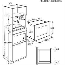 Emt25207ox electrolux micro ondes avec grill elektro loeters - Micro onde profondeur 30 cm ...