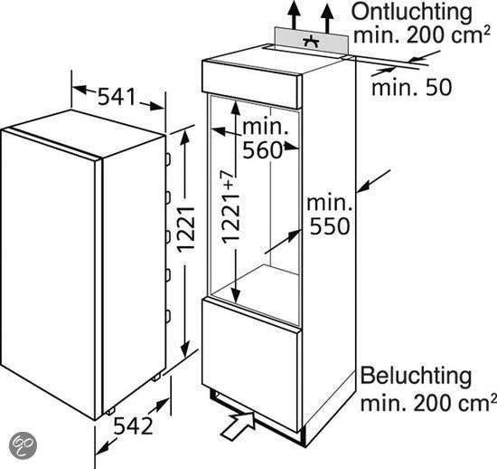 ki24lv21ff rc siemens koelkast inbouw 122 cm elektro loeters. Black Bedroom Furniture Sets. Home Design Ideas