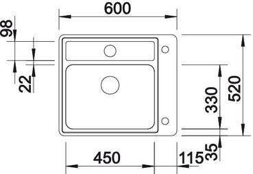 516332 blanco anderhalve spoelbak elektro loeters. Black Bedroom Furniture Sets. Home Design Ideas